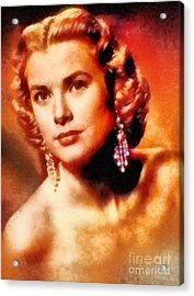Grace Kelly, Vintage Hollywood Actress Acrylic Print by Frank Falcon