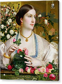 Grace Rose Acrylic Print by Anthony Frederick Augustus Sandys