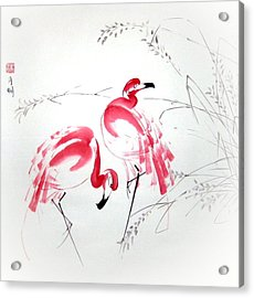 Graceful Pair Acrylic Print by Ming Yeung