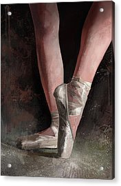 Acrylic Print featuring the digital art Graceful Slippers by Steve Goad