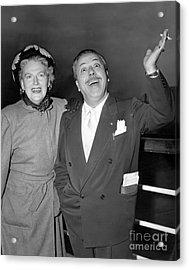 Gracie Fields And Husband, Monty Banks. Acrylic Print by Barney Stein