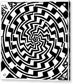 Gradient Tunnel Spin Maze Acrylic Print by Yonatan Frimer Maze Artist