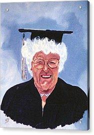 Graduation At 75 Acrylic Print by Stan Hamilton