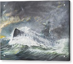 Graf Spee Enters The Indian Ocean Acrylic Print