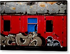 Graff Train Acrylic Print