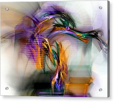 Graffiti - Fractal Art Acrylic Print by NirvanaBlues