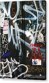 Graffiti  Acrylic Print by Chuck Kuhn