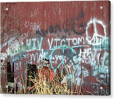 Acrylic Print featuring the photograph Graffiti by Cynthia Lassiter