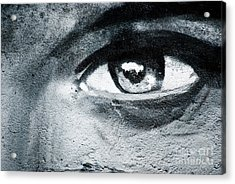Acrylic Print featuring the painting Graffiti Eye by Yurix Sardinelly