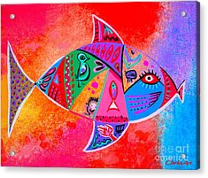Graffiti Fish Acrylic Print