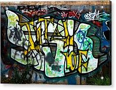 Graffiti Fort Armistead Baltimore Maryland Acrylic Print by Wayne Higgs