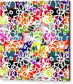 Acrylic Print featuring the mixed media Graffiti Garden 2- Art By Linda Woods by Linda Woods