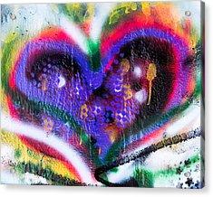 Graffiti Heart Acrylic Print