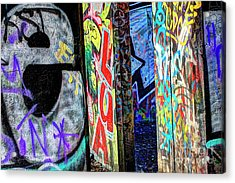 Acrylic Print featuring the photograph Graffiti Mosaic by Terry Rowe