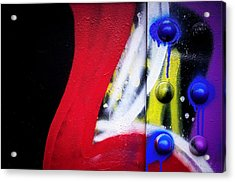 Graffiti On Iron Acrylic Print
