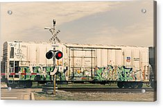 Graffiti Ride Acrylic Print by Gina  Zhidov