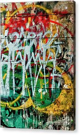 Acrylic Print featuring the photograph Graffiti Scramble by Terry Rowe