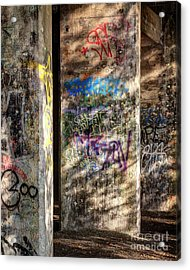 Acrylic Print featuring the photograph Graffiti Shadows by Terry Rowe