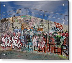 Graffiti Wall Acrylic Print by Julia Wilcox