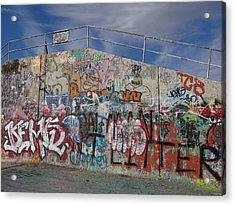 Graffiti Wall Acrylic Print by Julia Wilcox