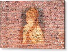 Graffiti Wall Painting Renoir Was Here 1876  Acrylic Print by Pod Artist
