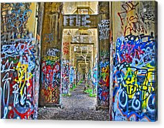 Grafiti Bridge To Nowhere Acrylic Print by Alice Gipson