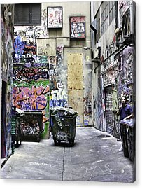 Grafitti Alley Acrylic Print by Mark Coran
