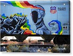 Grafitti Art Riding The Rails 2 Acrylic Print