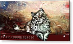 Acrylic Print featuring the painting Grafitti Kitty by Tyler Robbins
