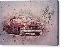 Acrylic Print featuring the photograph Graffiti Merc by Joel Witmeyer