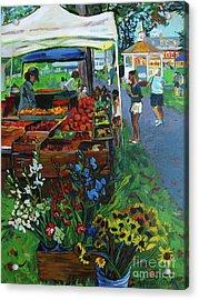 Grafton Farmer's Market Acrylic Print by Allison Coelho Picone