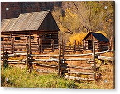 Grafton Homestead Acrylic Print by Dennis Hammer