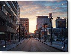 Graham Avenue Sunset Acrylic Print by Bryan Scott