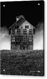 Grain Dryer Bw Acrylic Print by Marvin Spates