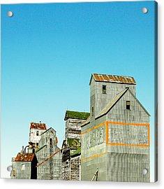 Grain Elevator Row Square Acrylic Print