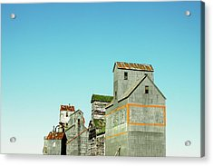 Grain Elevator Row Acrylic Print