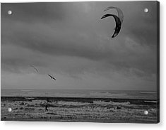 Grainy Wind Surf Acrylic Print