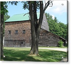 Grammie's Barn Through The Trees Acrylic Print