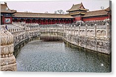 Grand Canal Forbidden City Acrylic Print by Barb Hauxwell