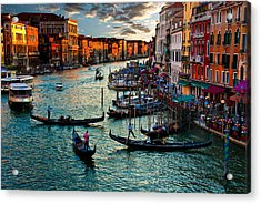Grand Canal Sunset Acrylic Print