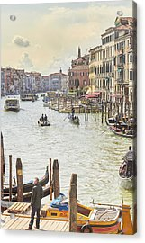 Grand Canal - The Most Famous Canal In Venice Acrylic Print