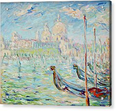 Grand Canal Venice Acrylic Print by Pierre Van Dijk