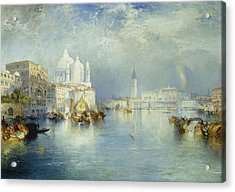 Grand Canal Venice Acrylic Print by Thomas Moran