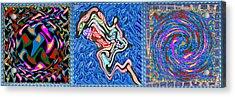 Grand Canvas Abstract Collection Seascape Waves Tornado Island Nightmare Acrylic Print by Navin Joshi