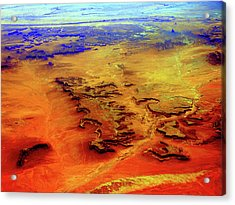 Acrylic Print featuring the photograph Grand Canyon 02 From 6mi Up by Irma BACKELANT GALLERIES