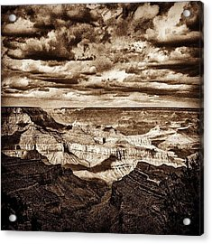 Grand Canyon Black And White Negative Acrylic Print