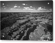 Acrylic Print featuring the photograph Grand Canyon Bw1 by Stan and Anne Foster