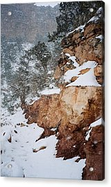 Grand Canyon In Snow Acrylic Print by Ruth Sharton