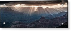 Acrylic Print featuring the photograph Grand Canyon Morning Light Show Pano by William Lee