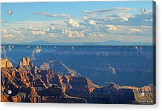 Grand Canyon North Rim Sunset San Francisco Peaks Acrylic Print